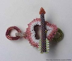 Heart and Arrow beaded Clasp
