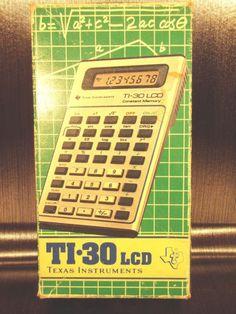 Calculatrice-calculator-Texas-Instruments-TI-30-LCD-1982