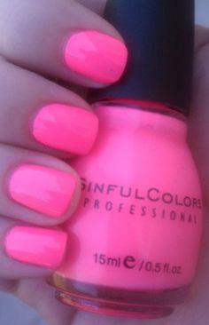 Sinful Colors - Fusion Neon: My fav shade pink nail polish Neon Pink Nail Polish, Sinful Colors Polish, Sinful Colors Nail Polish, Neon Nails, Nail Polish Designs, Diy Nails, Nail Designs, Neon Nail Colors, Polish Nails