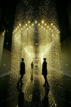 """"""" """"Light is time"""" is an art installation developed by Tsuyoshi Tane Featuring suspended shimmering watch plates for people to walk through. """" - """"Light is time"""" is an art installation. Light Luz, Vitrine Design, Light Art Installation, Art Installations, Instalation Art, 3d Art, Art Appliqués, Foto Art, Stage Design"""