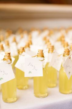 Limoncello favors: http://www.stylemepretty.com/illinois-weddings/chicago/2014/12/02/elegant-chicago-wedding-at-the-chicago-cultural-center/ | Photography: Olivia Leigh - http://olivialeighweddings.com/