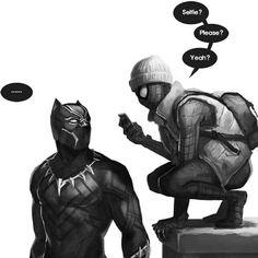 Black Panther & Spiderman