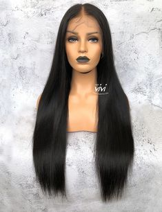 Hairvivi Specializes in Pre-Plucked and Pre-Bleached Lace Front Wigs & Full Lace Wigs that Can Be Worn Straight Out Box. Shop Lace Wigs With the Most Realistic and Natural Looking. Natural Looking Wigs, Natural Hair Styles, Long Hair Styles, Human Hair Lace Wigs, Human Hair Wigs, French Braids Black Hair, Black Wig, African American Hairstyles, Bleached Hair