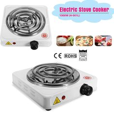 Buy Iron Burner Electric Stove Hot Plate Portable Kitchen Cooker Coffee Heater at Wish - Shopping Made Fun Cooking Appliances, Kitchen Appliances, Cooking Wild Rice, Cooking Kale, Cooking Recipes, Cooking With Kids Easy, Stoves Cookers, Cooking Pork Tenderloin, Kitchen Cooker