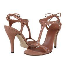 Gucci Pink Suede High Heel Slingbacks Sandals
