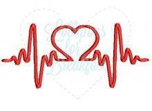 Stickmuster - Heartbeat