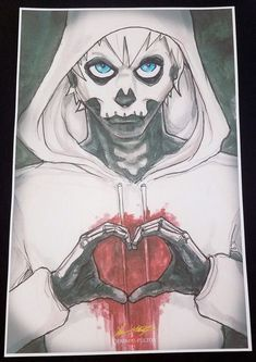 Hobo Heart Hand Heart Creepypasta 11x17 Print Signed By Artist Chris Oz Fulton!!