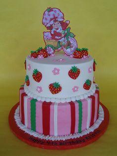 Strawberry Shortcake Themed Birthday Cake