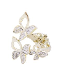 Stone Butterfly Hinge Ring - VR0047-GOLD