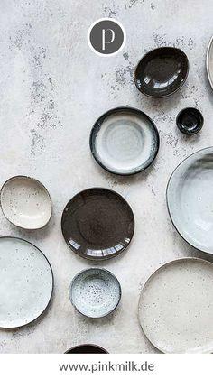 Teller-Set Rustic in Grau, cm, Teller Set, Scandinavian, Plates, Rustic, Dishes, Tableware, Small Plates, Rustic Design, Egg Cups
