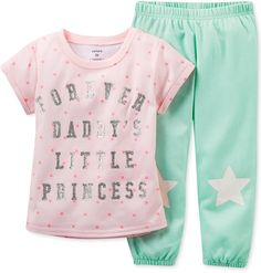 Carter's Little Girls' 2-Piece Star Pajamas $32.00 thestylecure.com