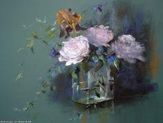 Artwork >> Breton Michel >> blueberry Peonies