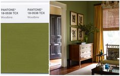 How to use Pantone's spring 2015 colour report at home-Mossy Green hue