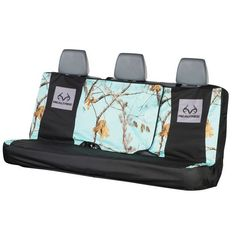 The Realtree Mint Camo Full-Size Bench seat cover is designed to cling to the contours of most OEM vehicle seats with several innovative fastening points to hold it in place and provide the best fit.