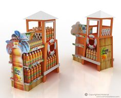 FuseTea Summer Display Unit on Behance Guerilla Marketing, Street Marketing, Point Of Sale, Point Of Purchase, Pos Display, Display Design, Store Design, Display Ideas, Merchandising Displays