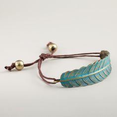 Green Leaf Friendship Bracelet   World Market