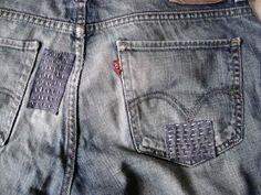 Bohemian girl: April 2012 mending jeans denim farkut ompelu korjaus