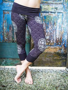Womens Yoga Leggings - 'Kimono Print Leggings' - cotton lycra - custom print- dance - athletic - movement wear on Etsy, $53.82 CAD