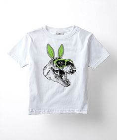 Love this White Bunny Ears T-Rex Tee - Toddler & Kids by Festuvius on #zulily! #zulilyfinds