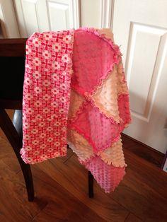 Pink & White Minky Rag Quilt