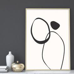 Modern Minimal Art Prints, Abstract Art Printable, Circles Art Prints, Black and White Art, Home Dec Home Decor Wall Art, Art Decor, Decoration, Black And White Wall Art, Black And White Abstract, Art Blanc, Art Minimaliste, Wal Art, Art Prints For Home