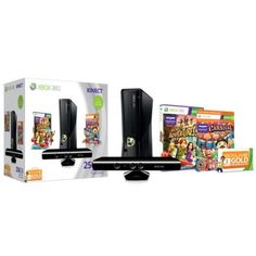 Microsoft Xbox 360® 250GB Kinect Bundle with 2 Games and Wireless Controller (Model: S9G00005)