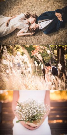 Fall wedding photo shoot in Korea