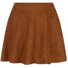 Plus Size Camel Suedette Skater Skirt (135 ARS) ❤ liked on Polyvore featuring skirts, bottoms, saias, camel skirt, plus size skirts, flared skirt, plus size circle skirt and plus size mini skirt