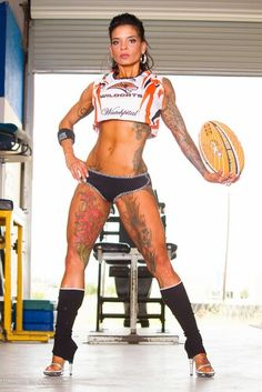 Amazing featured athlete of Tatted and Shredded..Angeles Quiles...see her bio on the website...www.tattedandshredded.com