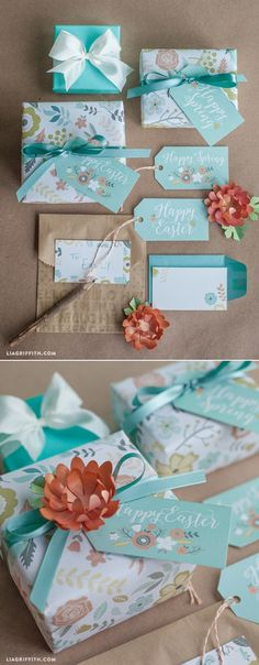 Printable Gift Wrap and Tags for Spring & Easter