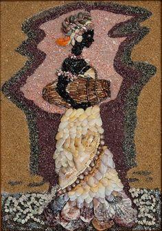 Лето, море и теплый песок: чудесная мозаика Марии Маневы - Ярмарка Мастеров - ручная работа, handmade Pebble Mosaic, Mosaic Art, Mosaic Tiles, Pebble Pictures, Seashell Art, Paving Stones, Marble Art, Stone Sculpture, Shell Crafts