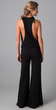 Blue Life V Neck Racer Back Jumpsuit    love this, but I could not go braless :-(