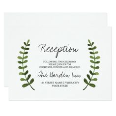 #monogrammed - #Rustic Ombre Watercolor Forest Wedding Monogram Card