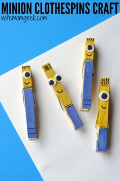 The best Minions party ideas collected in one place! Great crafts, invitations and recipes to make your Minion party or Minion Birthday party a success. Kids Crafts, Summer Crafts, Cute Crafts, Crafts To Do, Projects For Kids, Diy For Kids, Easy Crafts, Arts And Crafts, Craft Kids