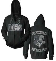 Insane Clown Posse Black and White Carnival of Carnage Hooded Sweatshirt