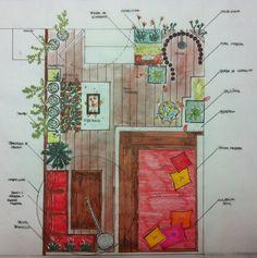 Projeto de Paisagismo - Desenho Artístico por Solimar Leão - www.solimarleao.com.br