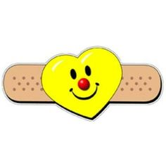 "Smiley Heart Band-Aid Stickers by Angel's Artistic Endeavors. $8.00. A whimsical variation to the Boo-Boo sticker by Angel featuring the Smiley Clown face in all its tender glory. Great for hospital clowning and all around comforting. 2.125"" die cut stickers, 250 stickers per roll, perforated."
