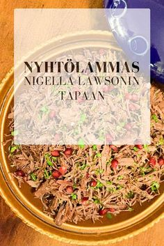 Hiidenuhman keittiössä: Nyhtölammas Nigella Lawsonin tapaan – pulled lamb