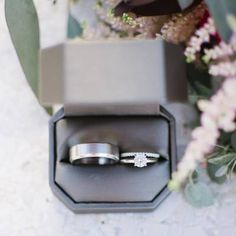 White Gold Over Round Diamond Engagement Bridal Wedding Trio Ring Set Ct Wedding Rings Sets His And Hers, Matching Promise Rings, Wedding Ring For Him, Wedding Ring Bands, Wedding Set, Mens Wedding Rings Tungsten, Engagement Rings Couple, Solitaire Engagement, White Gold