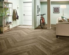 This is Armstrong's Charleston Oak Mocha in a herringbone laying pattern.  It's a good looking floor for sure. Call now for the best prices in the US.  http://www.truehardwoods.com/product/armstrong-luxury-vinyl-vivero-good-locking-u6041-charleston-oak-mocha/