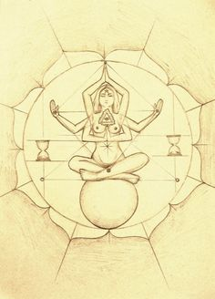 Drawing meditation time space soul sphere enlightment
