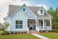 House Front Porch, Porch House Plans, Craftsman House Plans, Best House Plans, Front Porches, House Floor Plans, Outdoor House Colors, Dormer House, Dormer Ideas