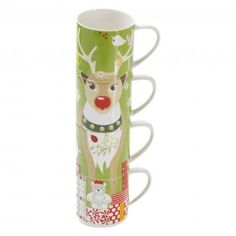 Tis the season to enjoy a hot cuppa in the Kris KringleReindeer Mug Set from Maxwell Williams.