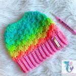 Crochet a Mermaid Dreams Messy Bun Beanie For Spring, It's the Perfect Kiss-Off To Winter!