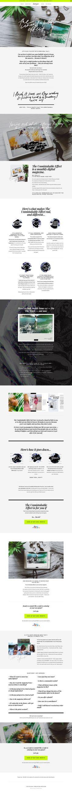 inspo sales page magacine