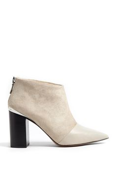 939221c0f263 See By Chloé - Natural Opale Leather Pointed Toe Suede Ankle Boots - Lyst