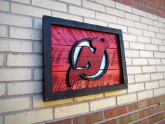 Handmade New Jersey Devils Logo Sign. $85.00, via Etsy.