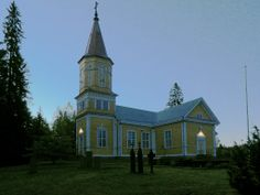 Lavian kirkko. - The Lutheran Church Lavia, Finland. Summer night 23:39.