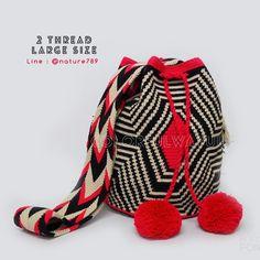 16 отметок «Нравится», 1 комментариев — Mochila Wayuu Bag (@colorfulwayuu) в Instagram: «พร้อมส่ง ลาย Zebra โทนสีชมพูอมแดง สวยมากค่าใบนี้ถ่ายรูปขึ้นสุดๆ☺️ ✔️ไซส์ L สูงประมาณ 11-12…»