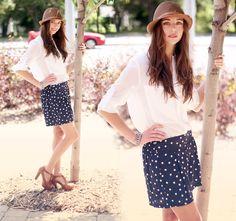 semi sheer half sleeve blouse